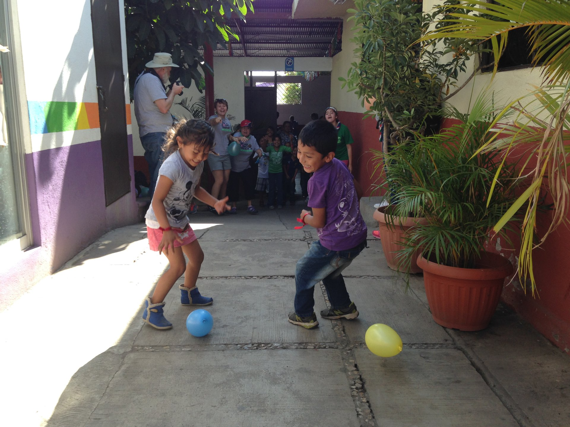 012015 Our Cabana children playing with balloons