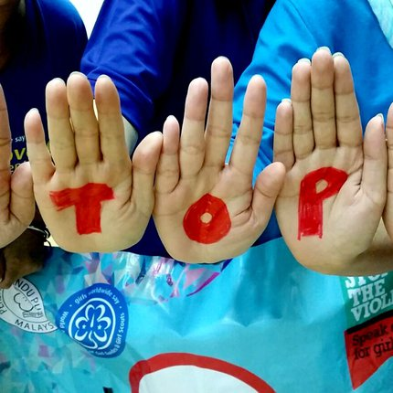 09 2015 Stop the Violence hands stop National training zone 2