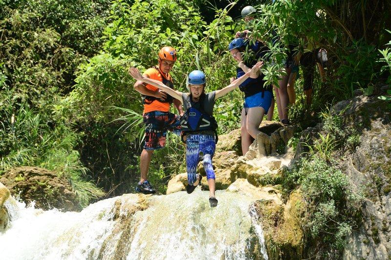 Jumping water falls summer event