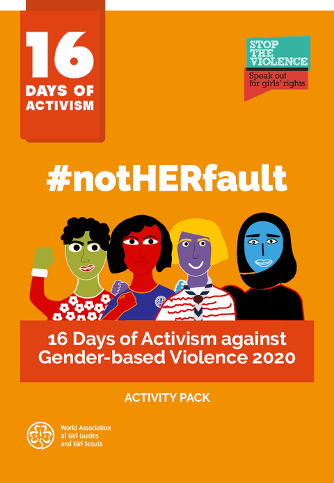 16 Days of Activism Activity Pack Front Cover