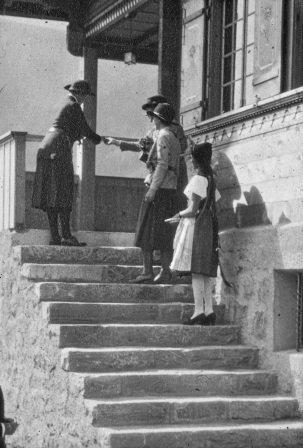1932_Switzerland_Our Chalet opening.jpg