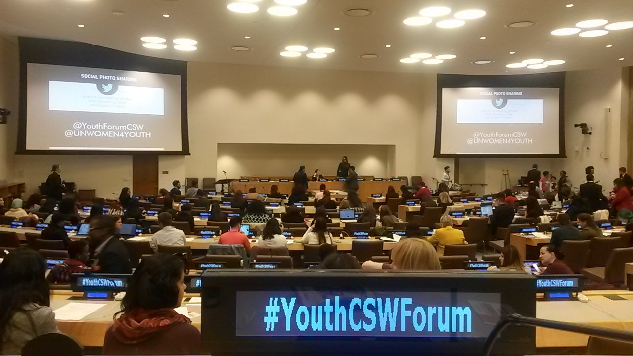 032016 CSW60 Youth CSW Forum in UN building