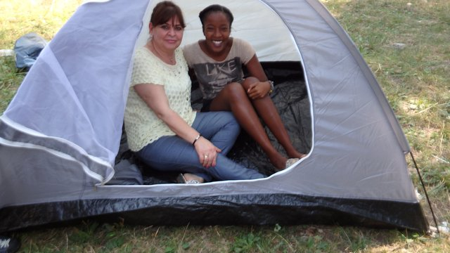 2016 _ Albania _ two girls in tent