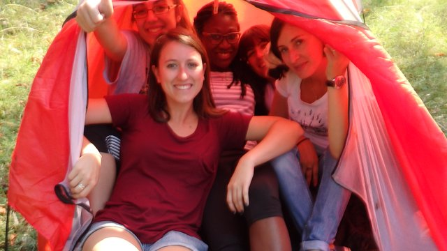 2016 _ Albania _ group in tent