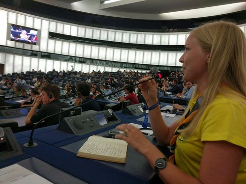 Asking a question in the Hemicycle