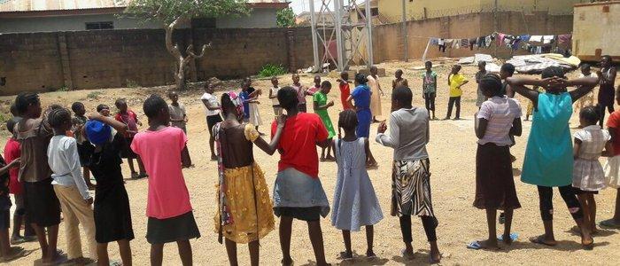 Children in the IDP camp - Nigeria