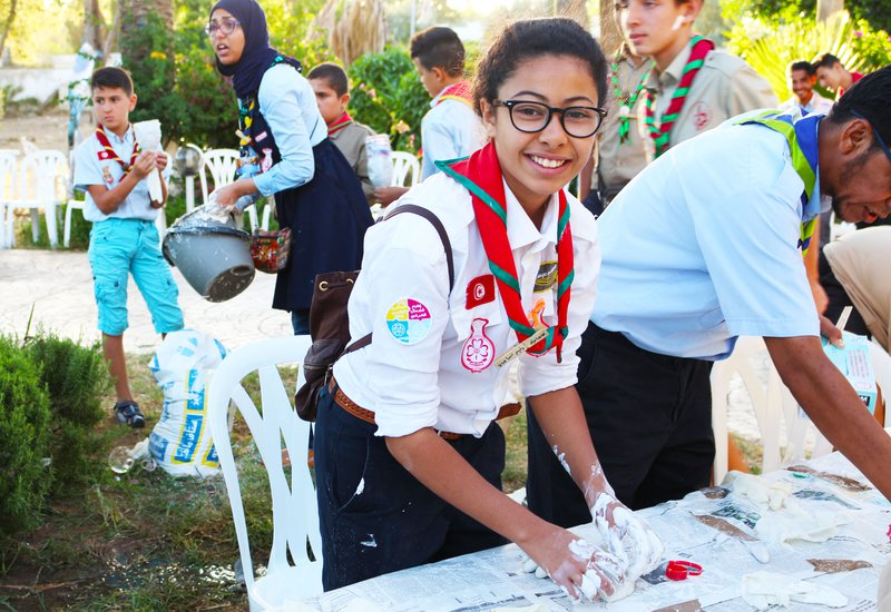 Creative activities promoting peace in Tunisia
