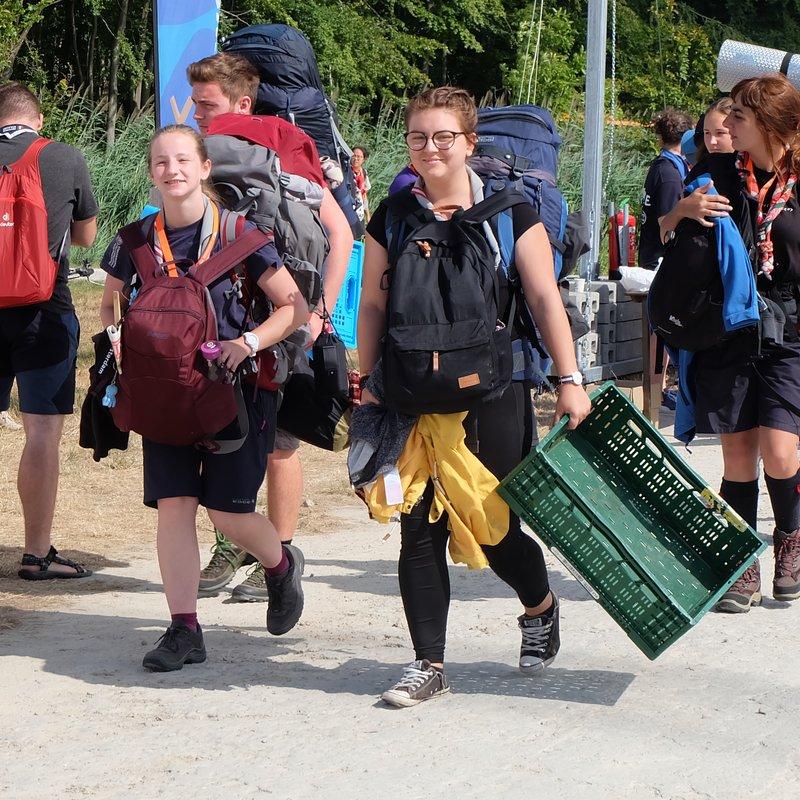 Roverway arrivals