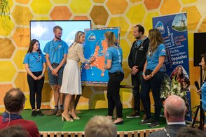 Queen Maxima at Roverway kick off