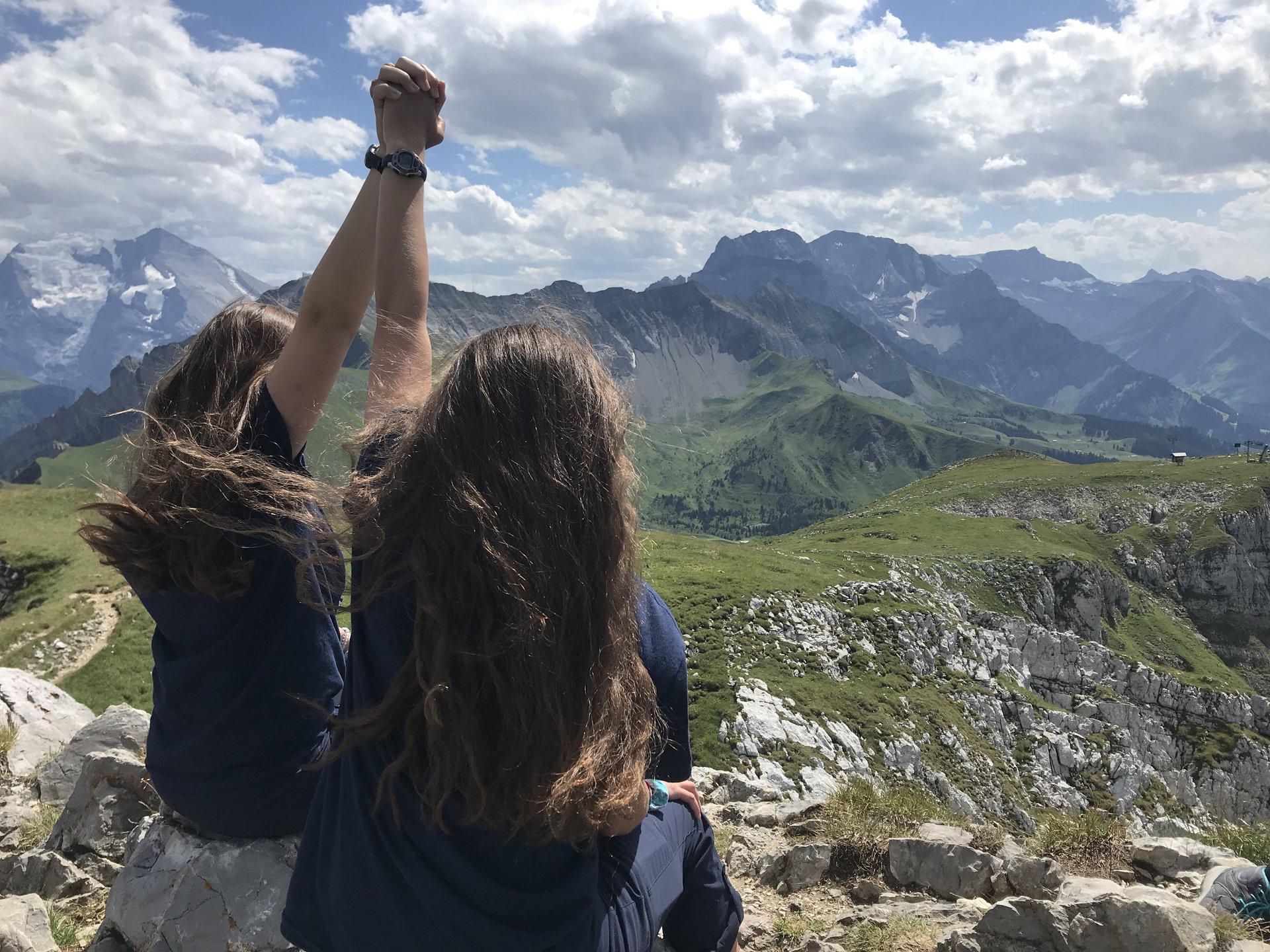 Girls Mountain Celebrating.JPG