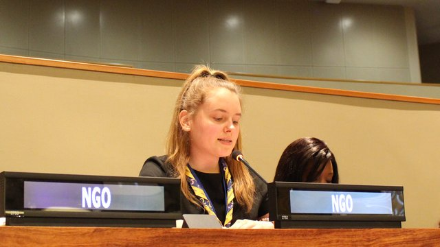 CSW62 - Hannah giving speech