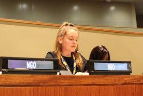 CSW62 - Hannah giving speech