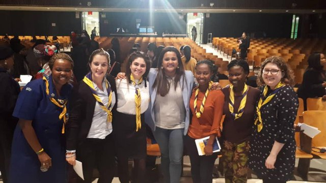 CSW63 delegates with UN Youth Envoy