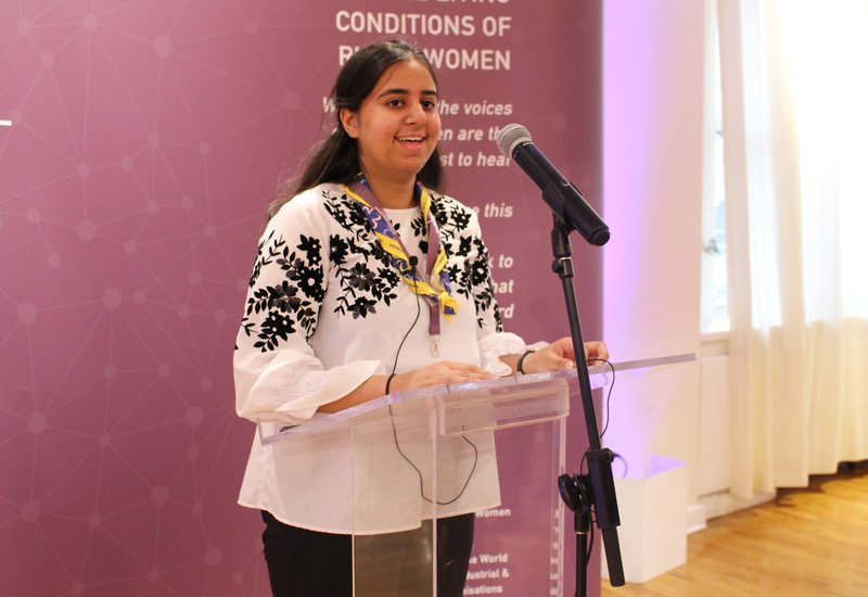 CSW62 - Ankita speaking at event