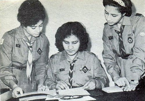 Libyan Girl Guides in the 60s