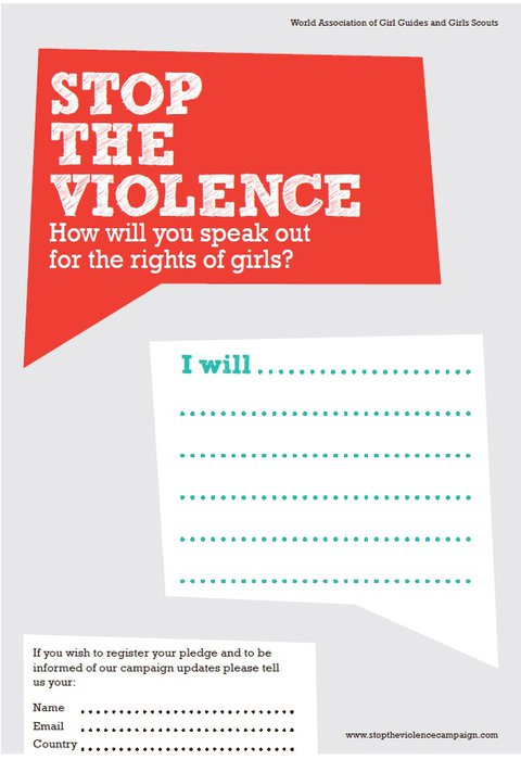 2011 Stop the Violence pledge card