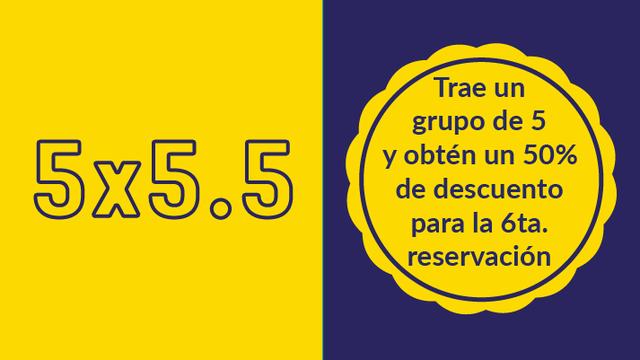 5x5.5 oferta especial