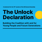Brand new Youth Coalition launch #UnlockTheFuture Declaration at the 76th session of the UN General Assembly