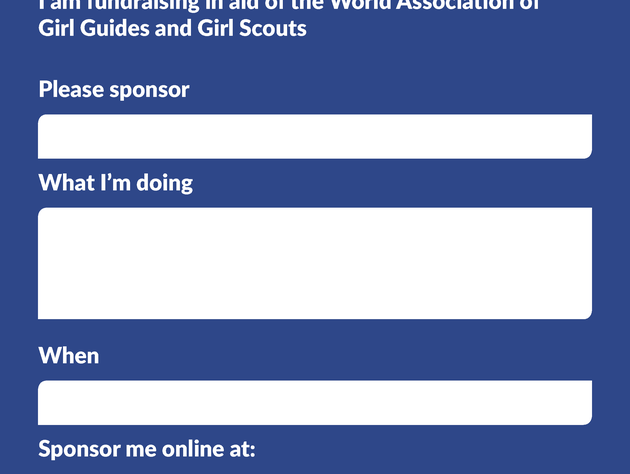 WAGGGS fundraising poster image