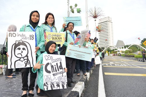 Malaysia Guides campaigning to end child marriage 2