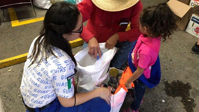 Mexico earthquake girl guide response