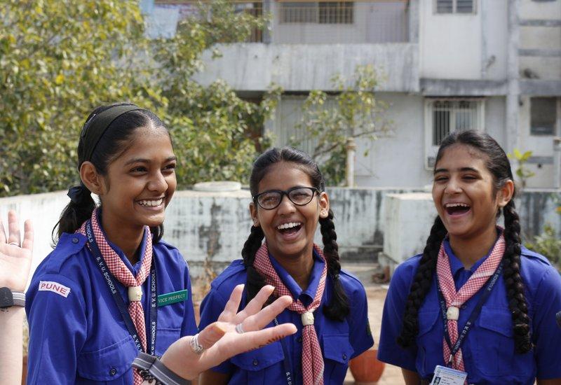 India visit - girls