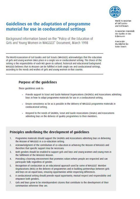 Co-educational Guidelines