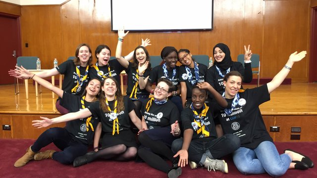 60th Commission on the status of women - CSW60 WAGGGS delegation group shot