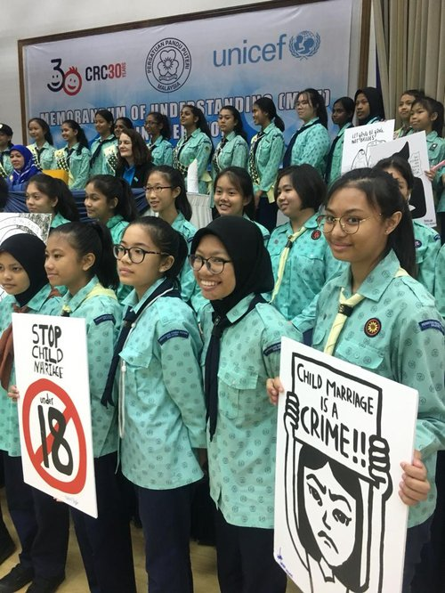 Girl Guides Malaysia and UNICEF 2