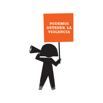 112016_Stop the Violence_ Girl with Stop the violence placard SPANISH