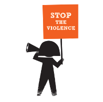 112016_Stop the Violence_ Girl with Stop the violence placard ENGLISH Small