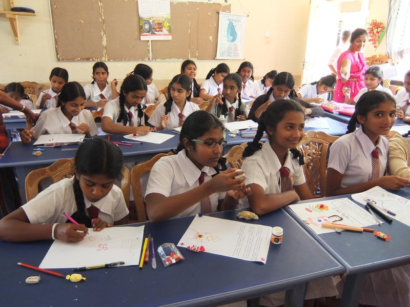 022016_Sri Lanka_ girls writing letters