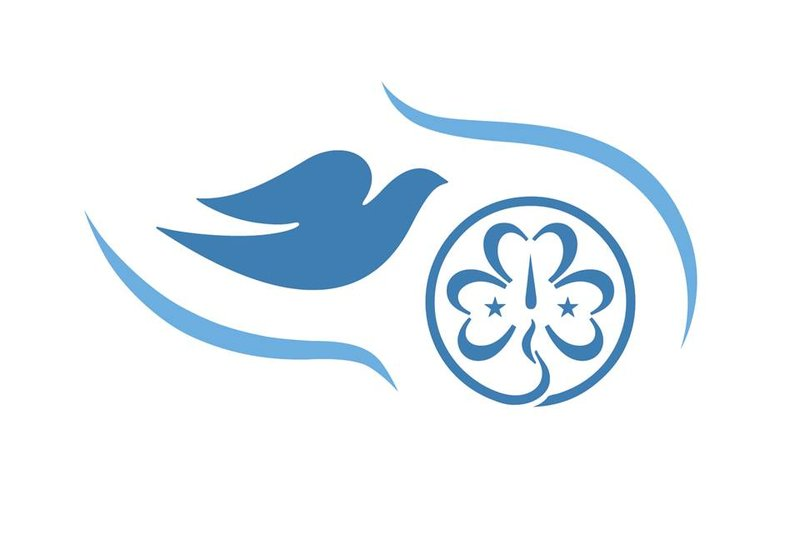 Free Being Me WAGGGS-Dove logo